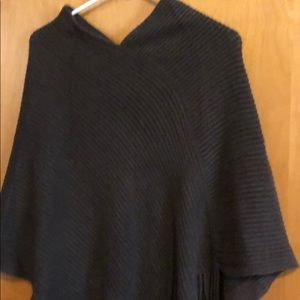 Brown poncho sweater
